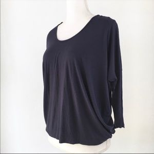 7FAM blue cocoon top dolman 7 For All Mankind S
